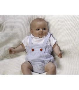 Conjunto rana celeste y blusón para bebé de Cucú by Belén Costales
