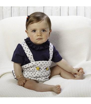 Conjunto rana y blusón para bebé de Cucú by Belén Costales