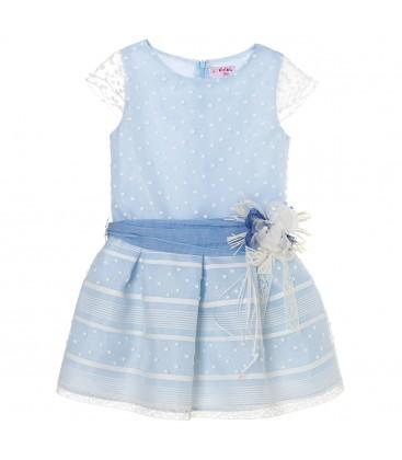 Vestido celeste para niña de Kiriki Moda Infantil