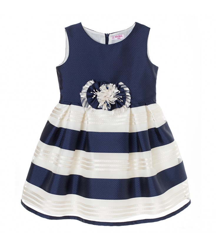 bf6f50761 Vestido de ceremonia azul marino para niña de Kiriki Moda Infantil ...