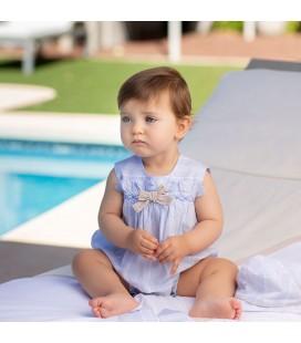 Pelele azul para bebé de Tutto Piccolo