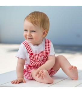 Pelele rojo para bebé de Tutto Piccolo