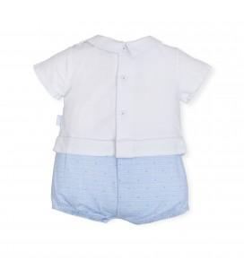 Pelele azul cielo para bebé de Tutto Piccolo
