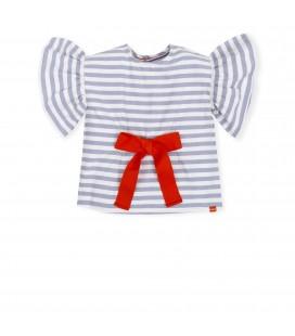 Blusa índigo para niña de Tutto Piccolo