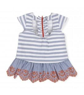 Vestido índigo para niña de Tutto Piccolo