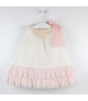 Vestido Sofia para bebé de Martín Aranda - Rosa salmonado