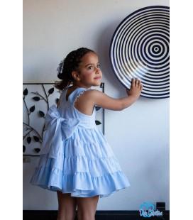 Vestido azul para niña de DBB Collection
