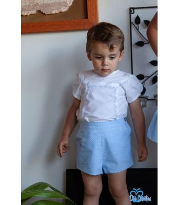 Conjunto blanco y celeste para bebé de DBB Collection
