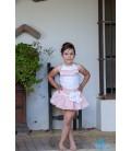 Conjunto blusa y falda para niña de DBB Collection
