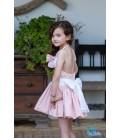 Vestido rosa empolvado para niña de DBB Collection
