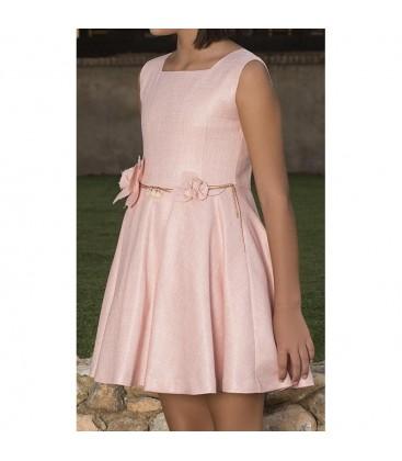 Vestido rosa empolvado para niña de Atelier de Candela