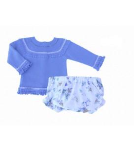 Conjunto jubón y braguita para bebé de Artesanía Granlei