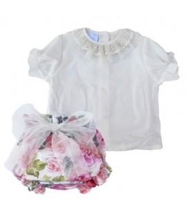 Conjunto flores para niña de Artesanía Granlei