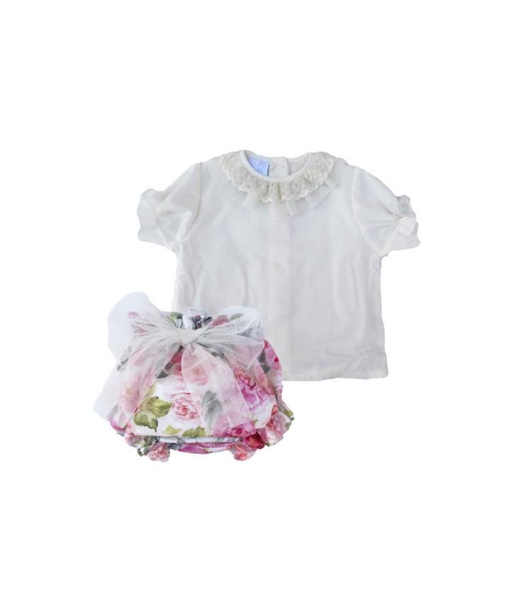 1dadba143 Conjunto flores para niña de Artesanía Granlei - Adriels Moda Infantil