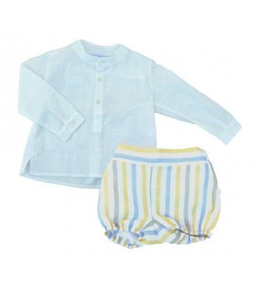 532b79f83 Conjunto camisa y bombacho para bebé de Artesanía Granlei - Adriels ...