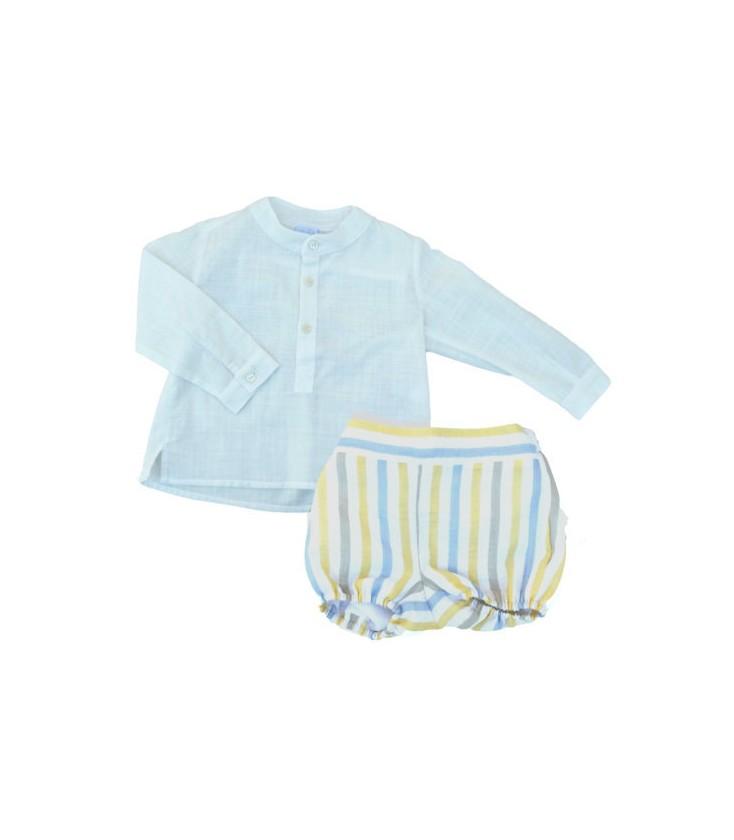 e5ed3e303 Conjunto camisa y bombacho para bebé de Artesanía Granlei - Adriels ...