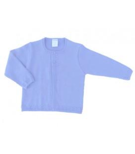 Chaqueta de punto azul para bebé de Artesanía Granlei