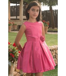 Vestido fucsia para niña de Atelier de Candela