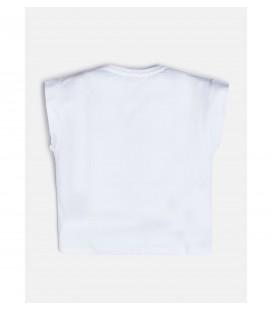 Camiseta blanca para niña de Guess
