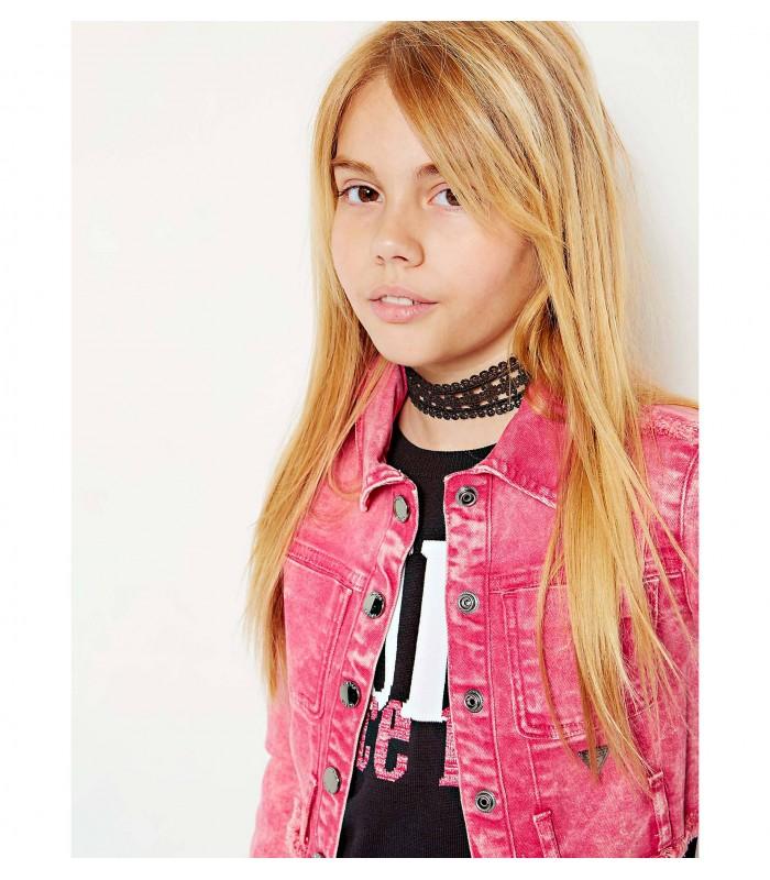 afa6b0dbe8f Chaqueta vaquera rosa para niña de Guess - Adriels Moda Infantil