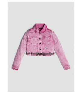 Chaqueta vaquera rosa para niña de Guess