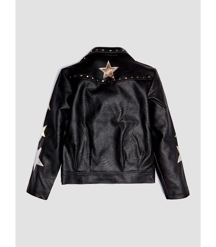 59d1177682f Chaqueta negra estrellas para niña de Guess - Adriels Moda Infantil