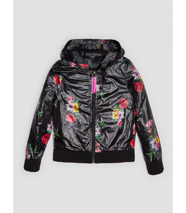 43c5e7b97ad Chaqueta negra estampado floral para niña de Guess - Adriels Moda ...