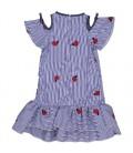 Vestido rayas azul para niña de Trybeyond