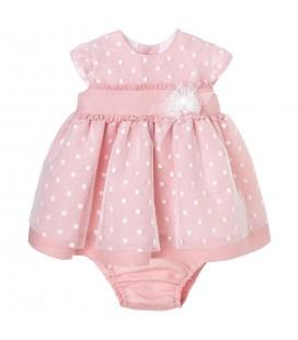 Vestido rosa empolvado para bebé de Kiriki Moda Infantil