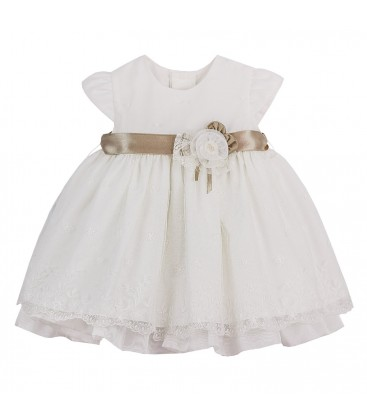 836d5d533 Vestido de bautizo beige para bebé de Kiriki Moda Infantil