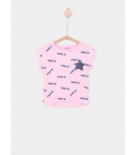 Camiseta Jill rosa fluor para niña de Tiffosi