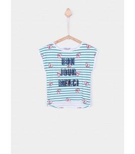 Camiseta Jill blanca para niña de Tiffosi
