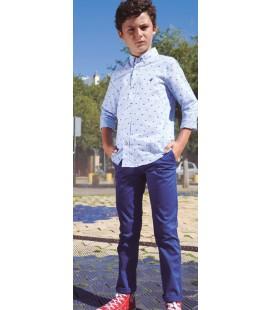 Pantalón chino azul para niño de El Flamenco
