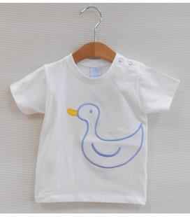 Camiseta Patito para bebé de Sardón - Celeste