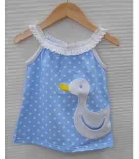"Vestido ""Patito"" para bebé de Sardón - Celeste"