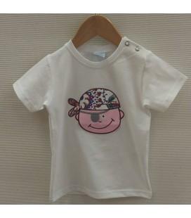 Camiseta Ibiza para bebé de Sardón - Fucsia