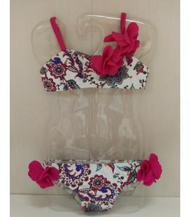Bikini Ibiza para niña de Sardón -  Fucsia