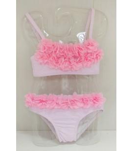 Bikini flores para niña de Sardón -  Rosa