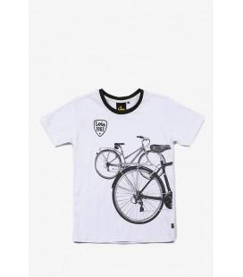 Camiseta bicicletas para niño de Lois Jeans - Blanco
