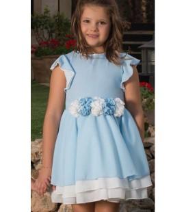 Vestido azul para niña de Atelier de Candela