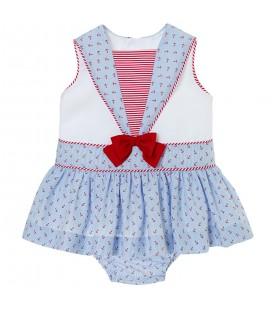 Vestido marinero para bebé de Kiriki Moda Infantil