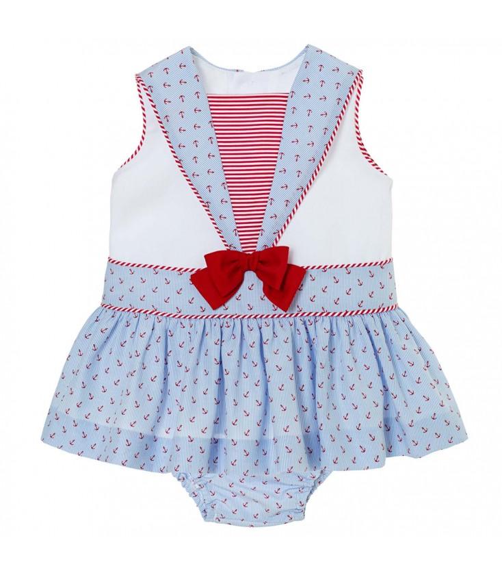 db9a73235 Vestido marinero para bebé de Kiriki Moda Infantil - Adriels Moda ...