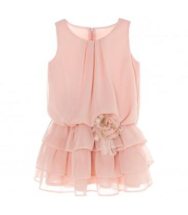 Vestido rosa para niña de Kiriki Moda Infantil