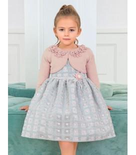Abel&Lula - Bolero tricot rosa para niña