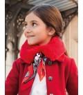 Abel&Lula - Cuello de pelo rojo con pañuelo para niña