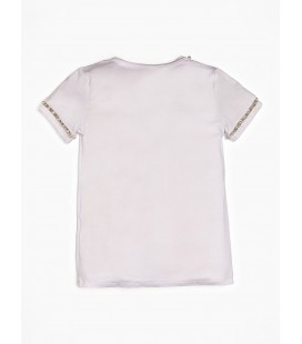 Marciano - Camiseta blanca con perlas para niña