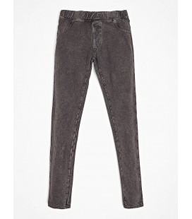 Guess - Leggings skinny grises para niña