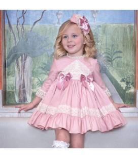 Miranda - Vestido rosa oscuro para niña