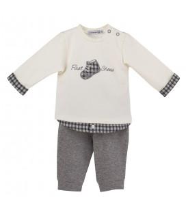 Calamaro - Chandal Zapatillas gris para bebé