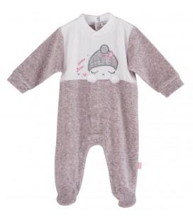 Calamaro - Pelele Sweet Winter rosa para bebé
